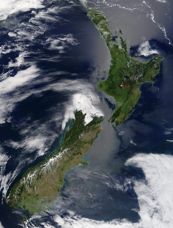 Satellite Image Of New Zealand Satellite Imagery Pinterest - Today satellite image of world