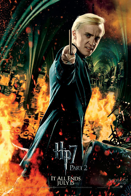Harry Potter And The Deathly Hallows Part 2 Harry Potter Movies Harry Potter Poster Draco Malfoy