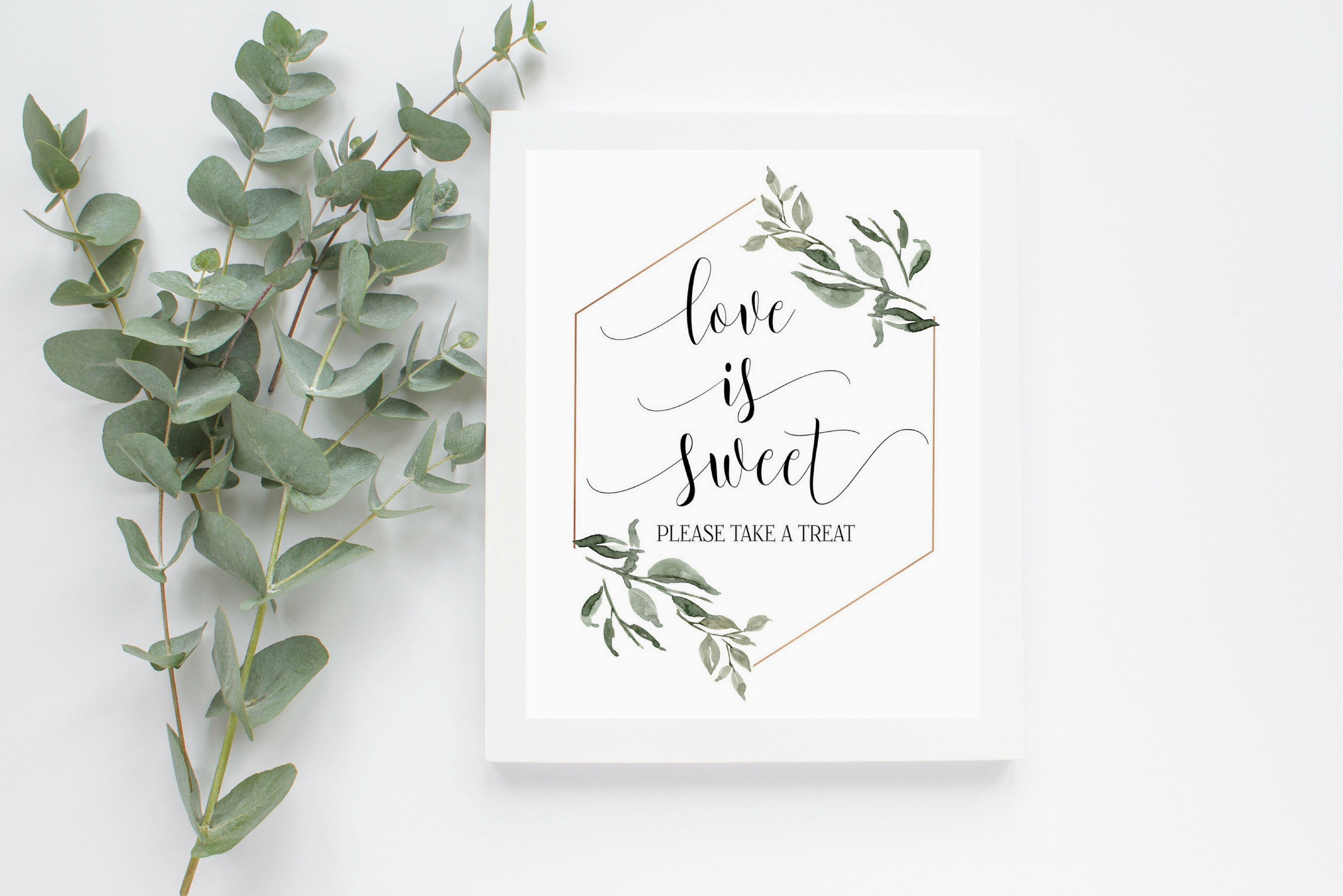 Love is Sweet Sign, Take a Treat Sign, Printable Wedding Sign ...