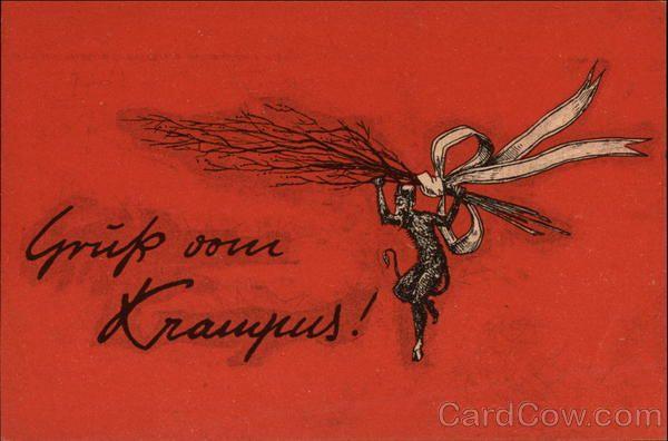 Gruss vom Krampus! Christmas Devils Krampus/Old Scratch Pinterest