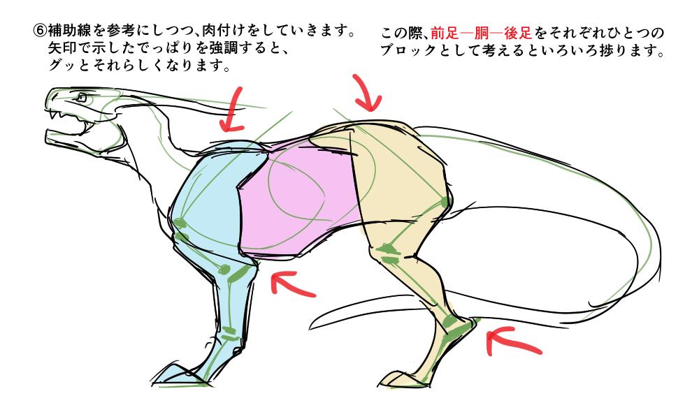 イラスト基本編それっぽいドラゴンの描き方アタリを取ろう