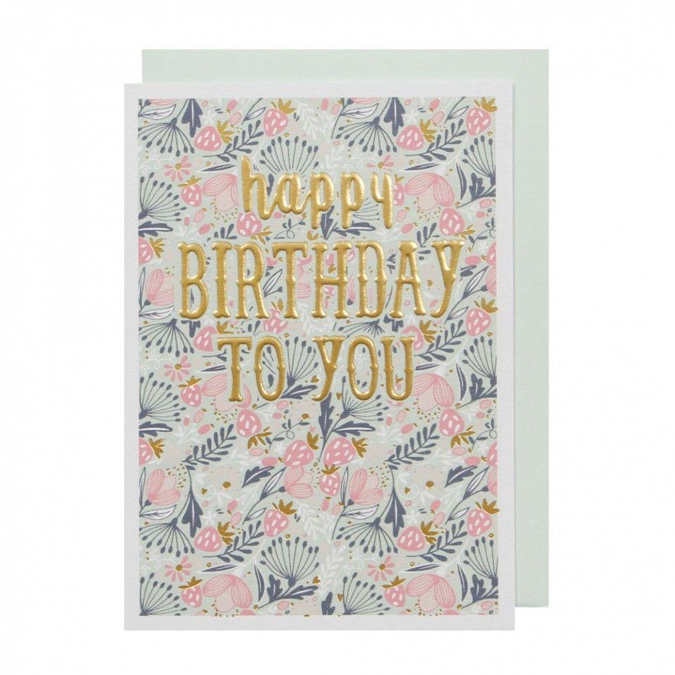 Strawberries and flowers birthday card ceramics u gift pinterest
