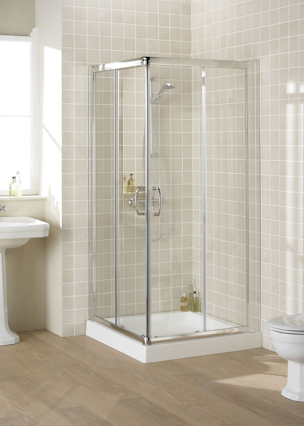 Semi-Frameless Corner Entry - Shower Enclosures | showers ...