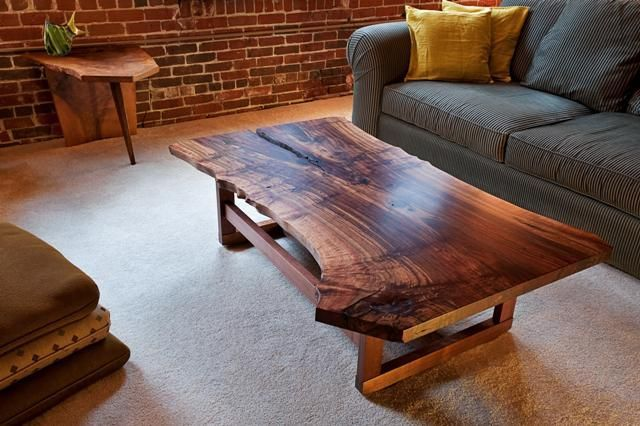 Reclaimed Wood Furniture And Live Edge Tables Made From Fallen