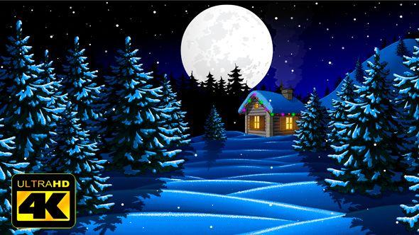 Animated Christmas Landscape
