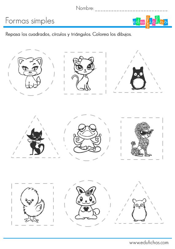 formas y animales … | Trabajitos entretenidos | Pinte…
