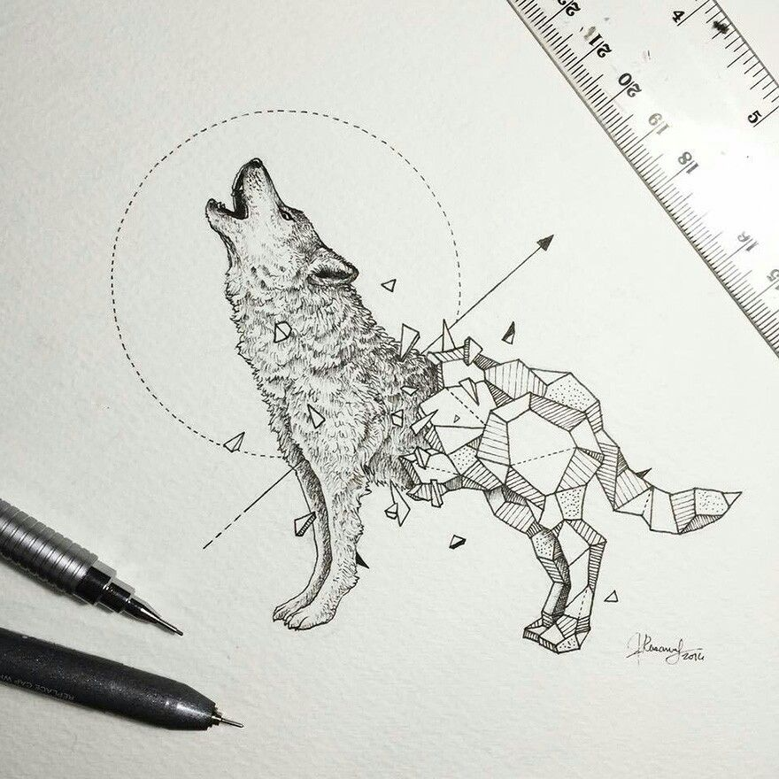 Wolf Crystal Skin Canvas Pinterest Dessin Animaux Geometrique