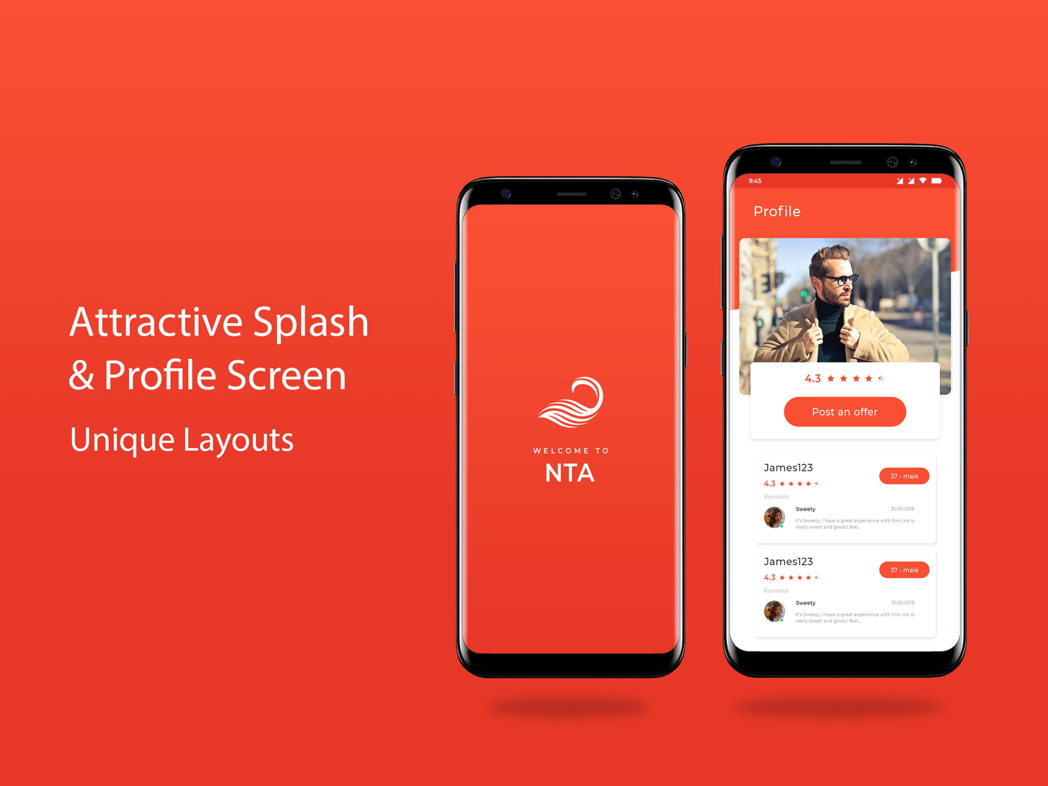 Splash And Profile Screen Splash Unique Layout Screen