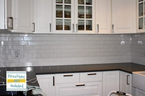 Subway Tile Backsplash Installation Is Not So Bad Diy Kitchen