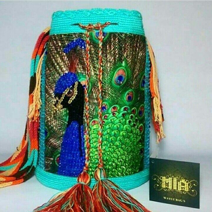 Wayuu Mochila bag peacock   yarn   Pinterest   Muster