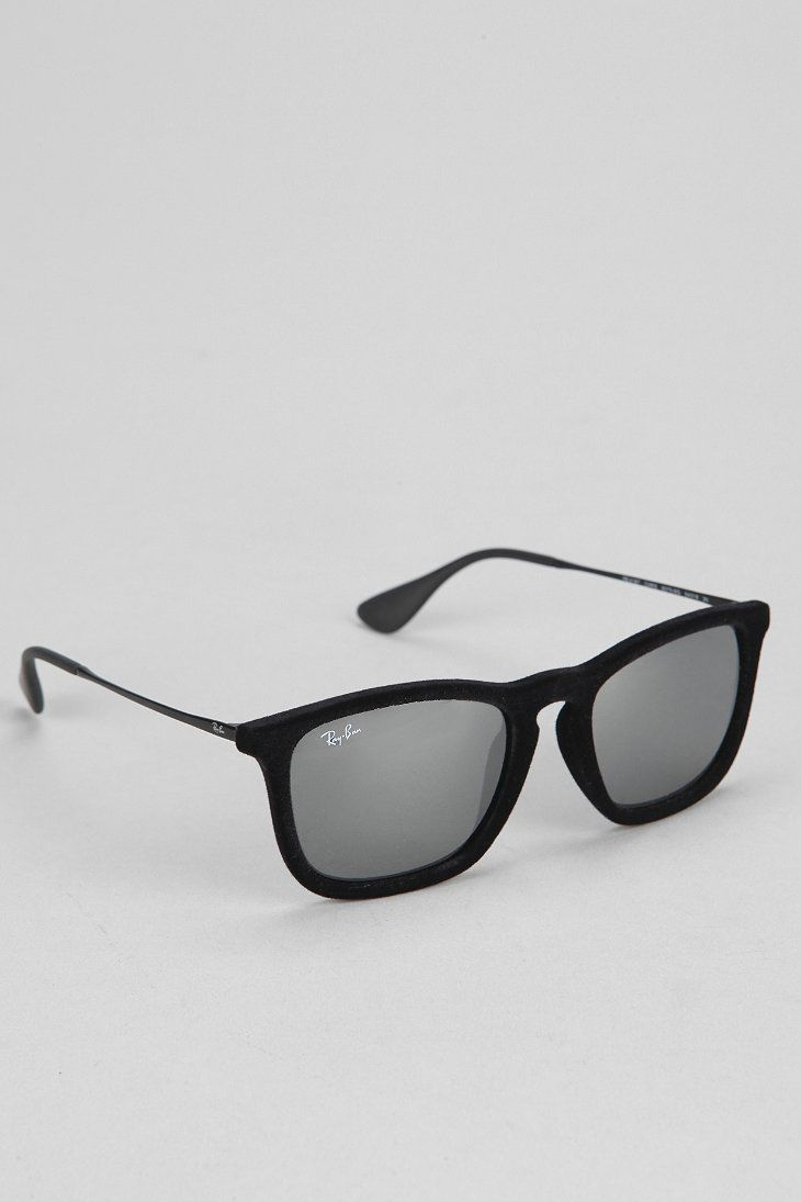 Ray Ban Chris Flocked Wayfarer Sunglasses Urban Outfitters