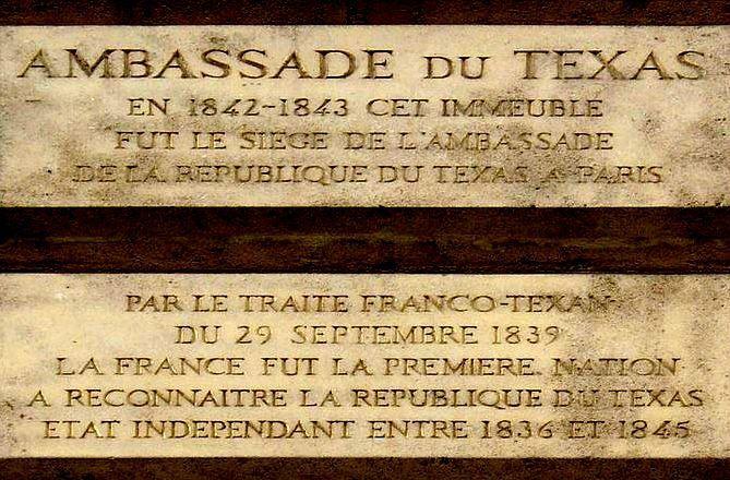 Paris 1er - L'ancienne ambassade du Texas (1842-1843), à l'angle de la rue du Faubourg Saint-Honoré et de la place Vendôme.