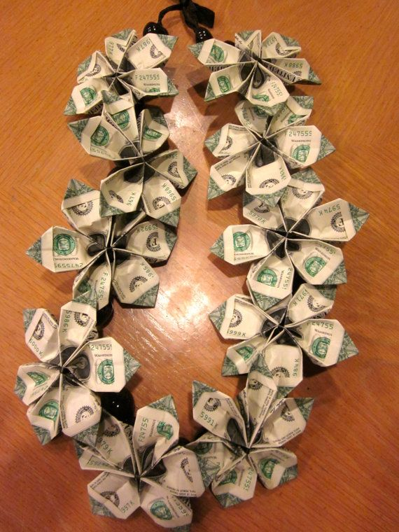 How To Fold Dollars For Money Lei