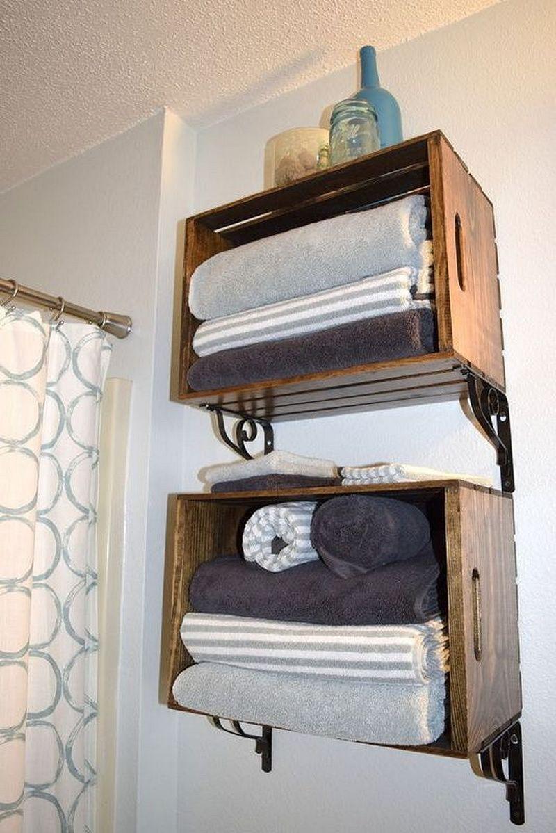 49 Brilliant Storage Ideas For Small Bathroom On A Budget In 2020 Diy Bathroom Storage Small Bathroom Storage Diy Bathroom Inspiration