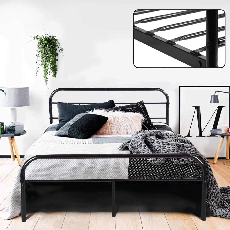 Greenforest Full Metal Bed Frame Black Bed Frame Ikea Bed