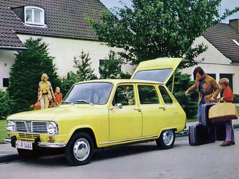 Renault 6 jaune 1973