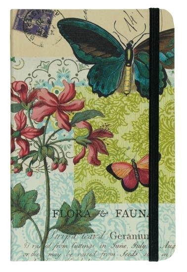 Cavallini Flora & Fauna Butterfly Pocket Notebook.  Stationery, stationary