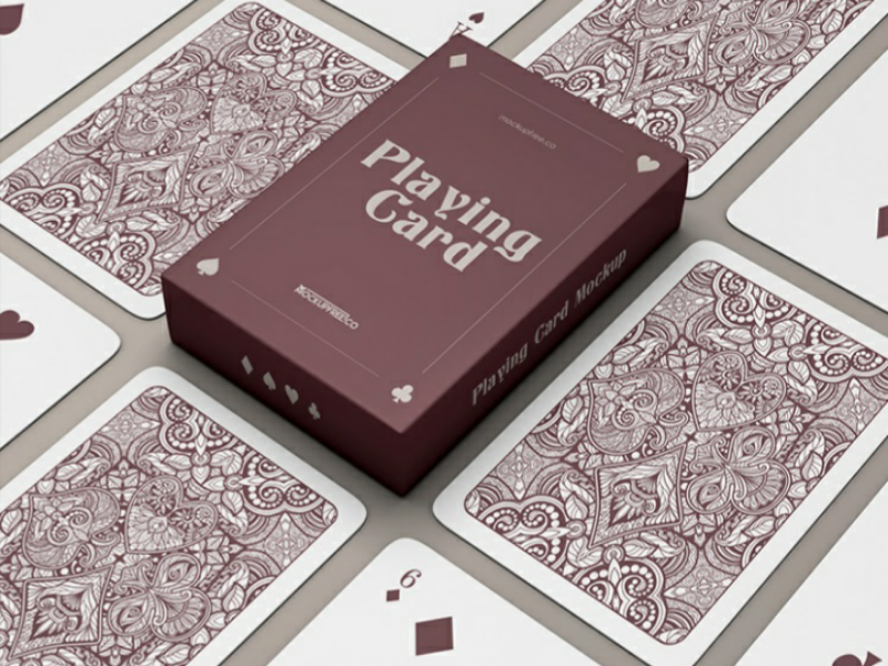 Free Playing Cards Mockup In 2021 Free Business Card Mockup Free Mockup Packaging Mockup