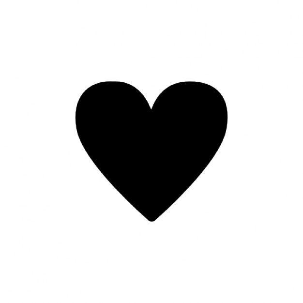 Simple black heart silhouette Free Icon | Free Icon #Freepik #freeicon #heart #love #center #core