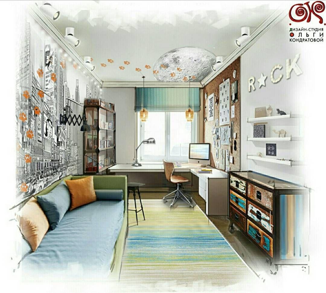 Детская комната в современном стиле. Дух путешествий и краски детства😀...