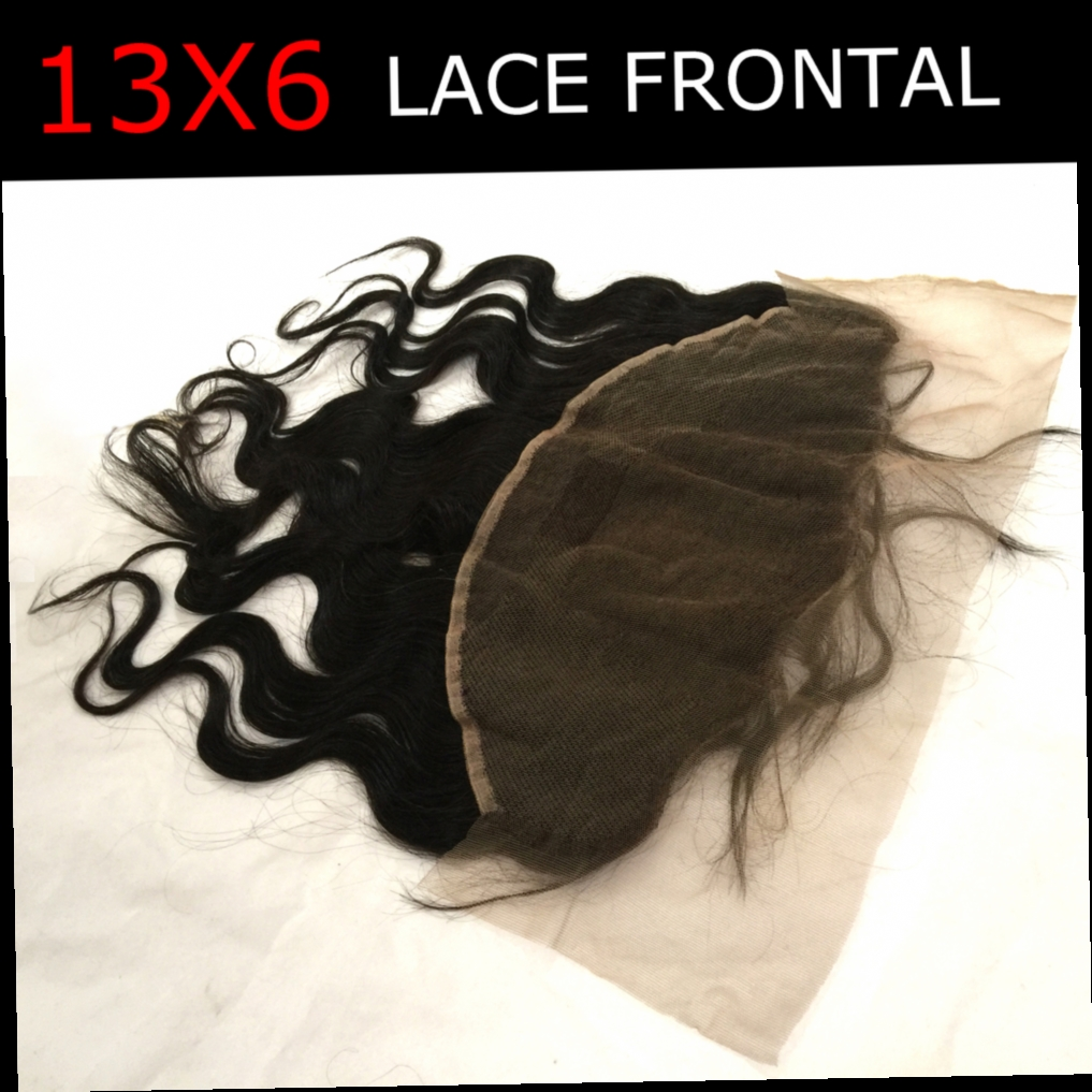 49.50$  Buy now - http://ali9j3.worldwells.pw/go.php?t=32636545865 - 13x6 Fast Shipping Lace Frontal Closure Body Wave Free Part 3 Part Middle Part Frontal Brazilian Virgin Black Human Hair Frontal 49.50$
