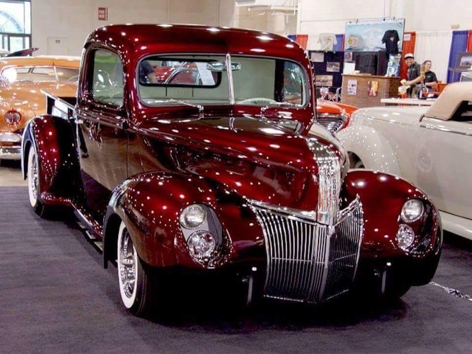 HOT ROD TRUCKS — hotrodzandpinups:   40 Ford kustom -