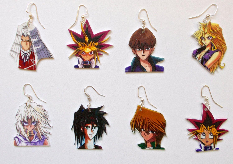 Yu-Gi-Oh Character Earrings - Choose 2. $8.99, via Etsy.