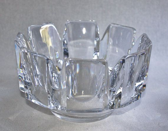 Orrefors Crystal Centerpiece Bowl by Lars Hellsten by PeriodElegance, $125.00, www.PeriodElegance.etsy.com