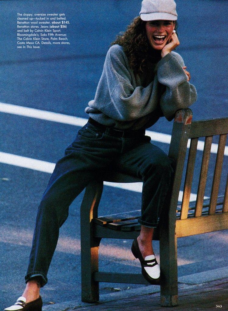 US Vogue October 1991 role reversals Ph: Marc Hispard Fashion Editor: Carlyne Cerf de Dudzeele Model: Carre Otis Hair: Troy Halterman for Oribe @ Elizabeth Arden Makeup: Moyra Mulholland