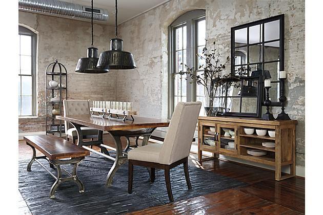 Ashley Furniture Urbanology Rustic Brown Ranimar Dining Room