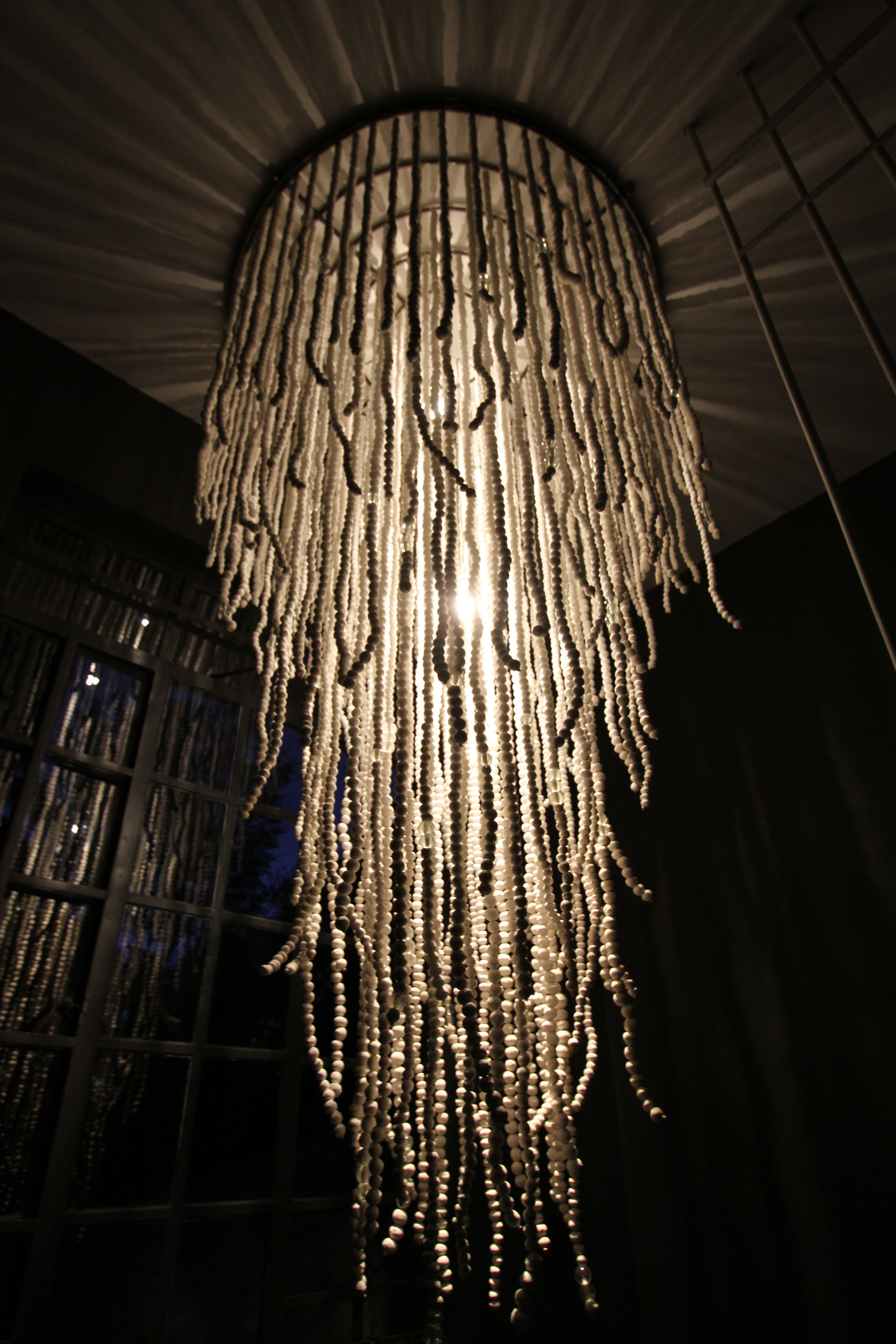 Katundu s clay bead light chandelier Buy now at