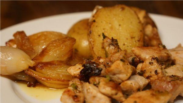 Patatas y chalotas