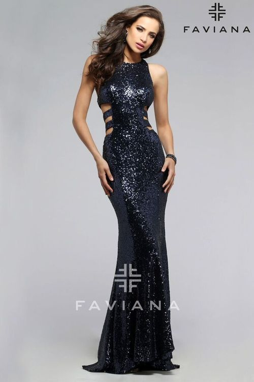 Sequin Cut Out Prom Dress Faviana 7705 P R O M 2016 Pinterest