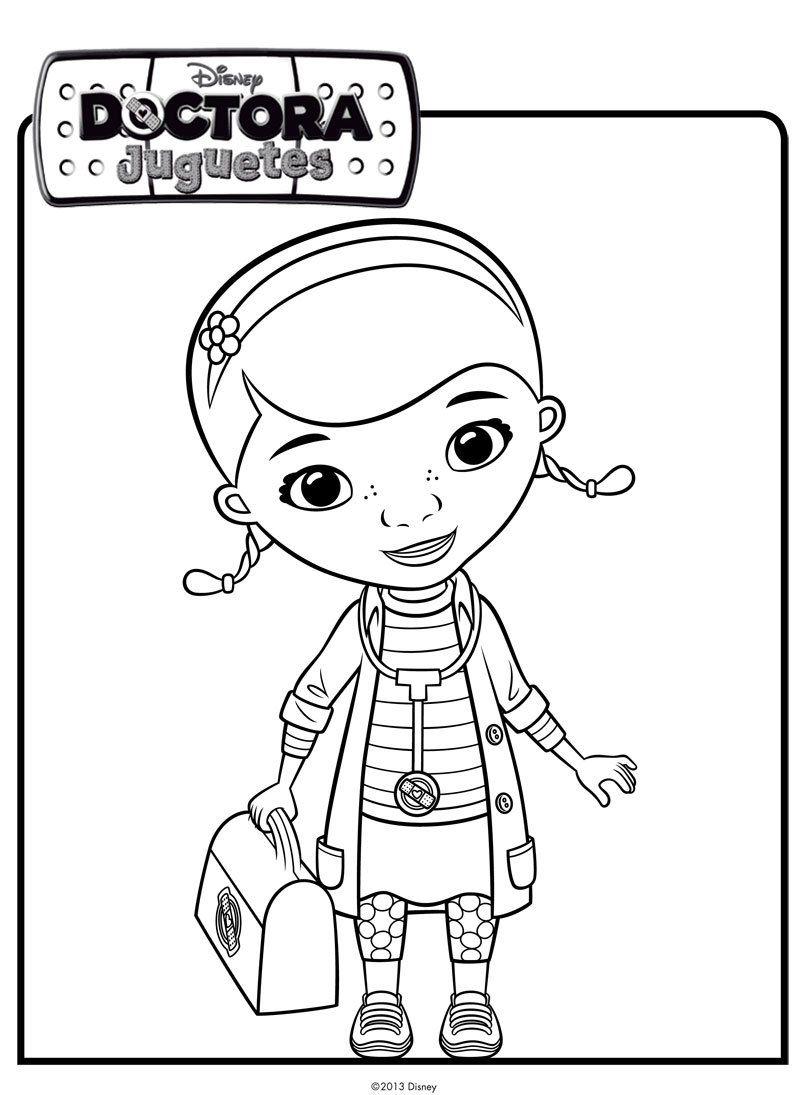 Dibujo de la Doctora Juguetes. Dibujos de Disney para colorear ...