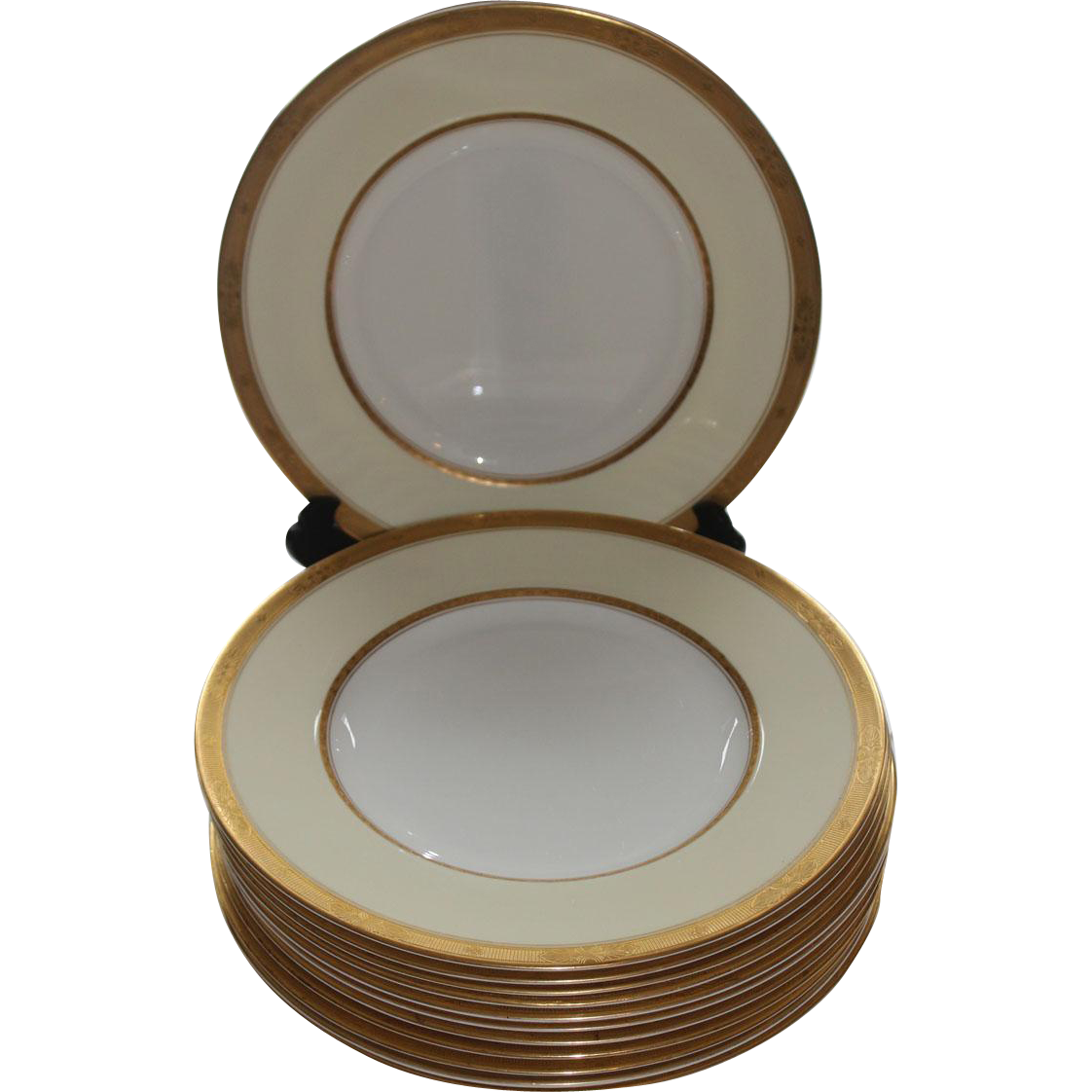 12 Royal Worcester Diana Dinner Plates Burley & Co. Chicago Rubylane.com