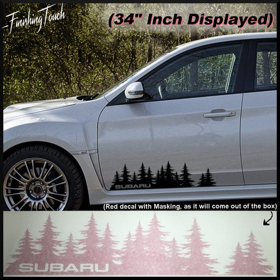 Subaru Decal Custom Vinyl Door Graphic By FinishingTouchVinyls - Custom vinyl stickers for cars