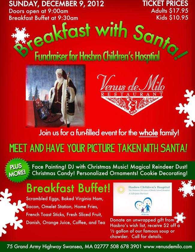 Breakfast with Santa, and proceeds benefit Hasbro Children ...