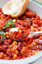 Fast family chili con carne  The quick and easy recipe The brisk   Schnelle Rezepte Fast family chili con carne  The quick and easy recipe The brisk   Schnelle Rezepte