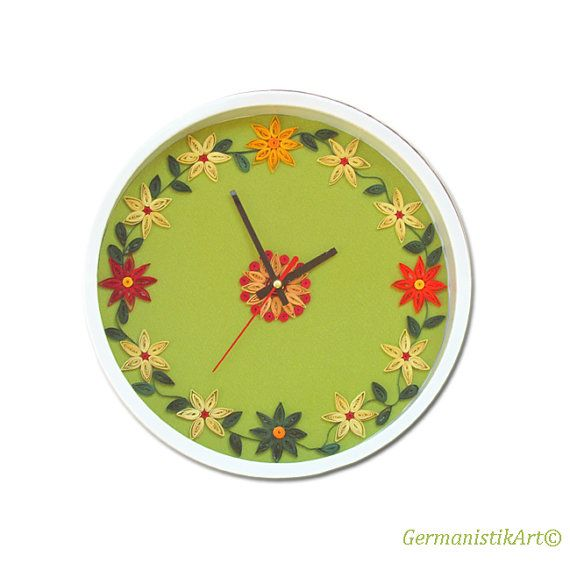 Decorative Kitchen Wall Art Clock, Paper Quilling Home Decoration ...