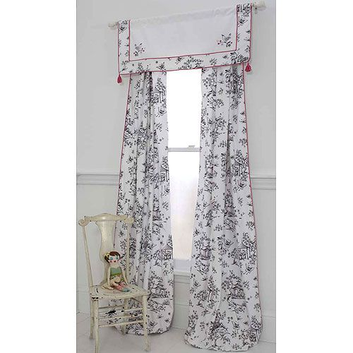 China Doll Toile Curtain Panels Ii Set Of Two Toile Curtains