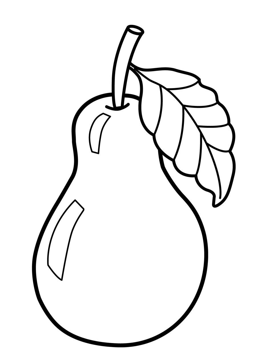 Fruits Coloring Pages For Preschoolers Kids Pinterest Sewing