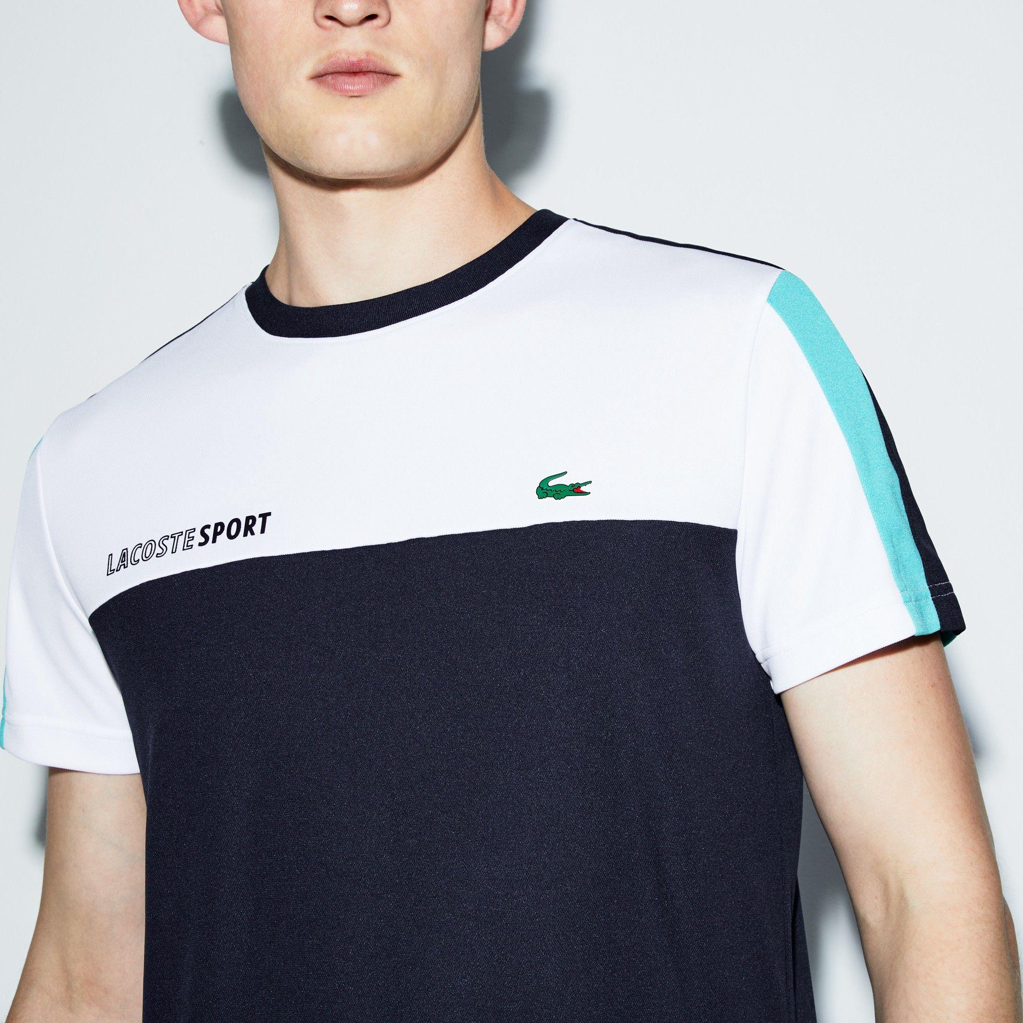9ba759b0 Lacoste Men's Sport Crew Neck Colorblock Piqué Tennis T-Shirt -  Inkwell/Black-White Xxl Green