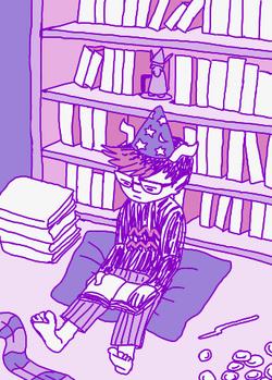 small nerd child