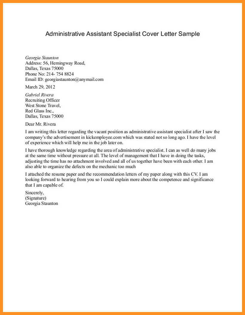 27+ Administrative Assistant Cover Letter Examples . Administrative ...