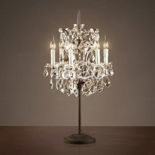 Dining Room Crystal Candlestick Table Lamp For Restaurant Simig Crystal Table Lamps Chandelier Table Lamp Crystal Lamp