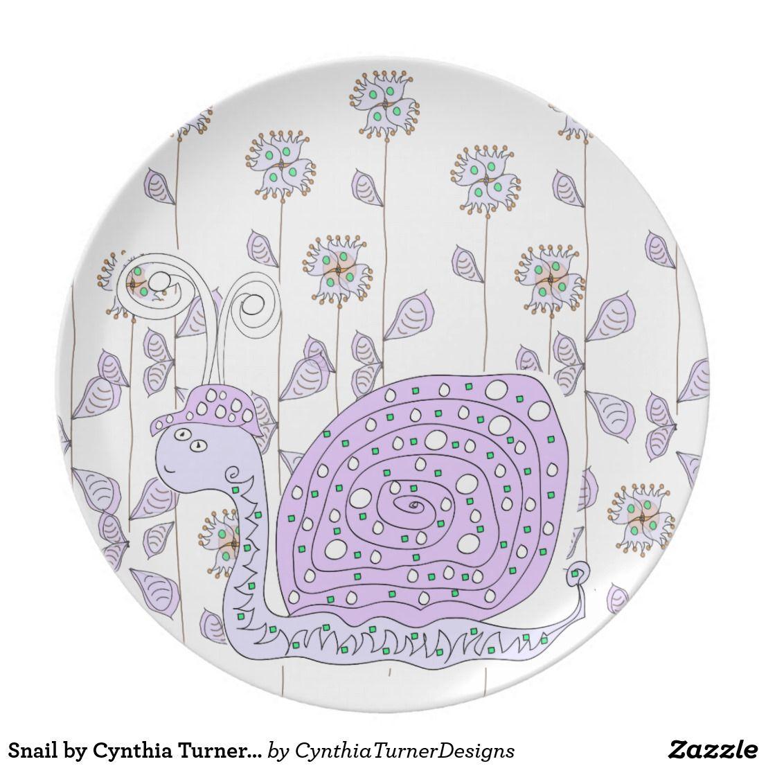 sc 1 st  Pinterest & Snail by Cynthia Turner Designs Plate