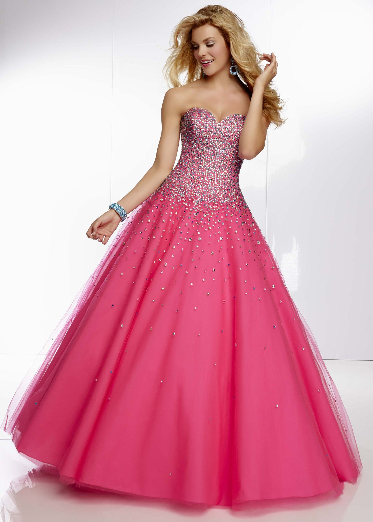 Mori Lee 95008 - Pink Panther Strapless Ball Gown Prom Dresses ...
