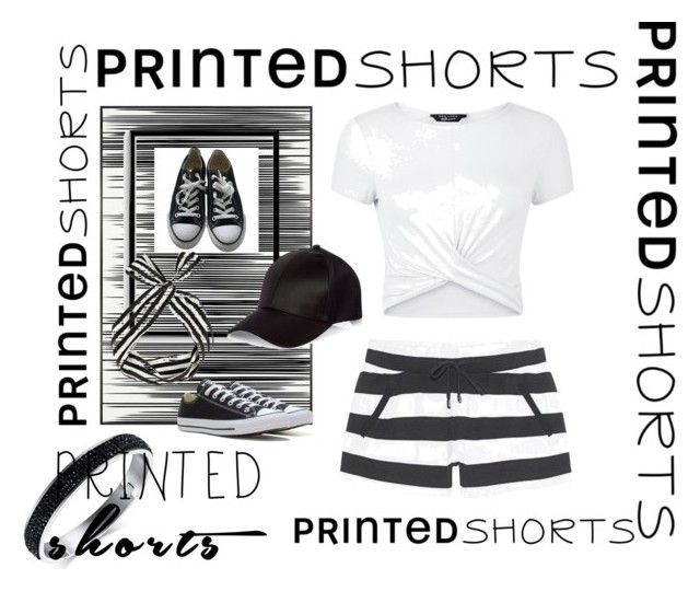 """""""Untitled #468"""" by forkelly1 ❤ liked on Polyvore featuring Juvia, Art Addiction, Bomedo, New Look, River Island, Converse and printedshorts"""