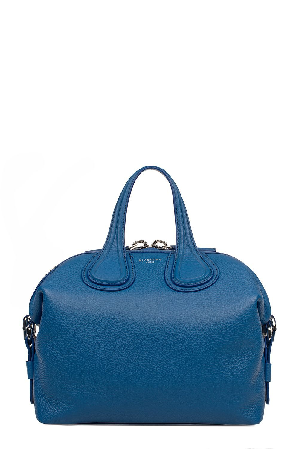 7229bf2e941 Givenchy - Indigo Small Nightingale Hammered Leather Top Handle Bag -  BB05096025 415, Women s Totes   Italist