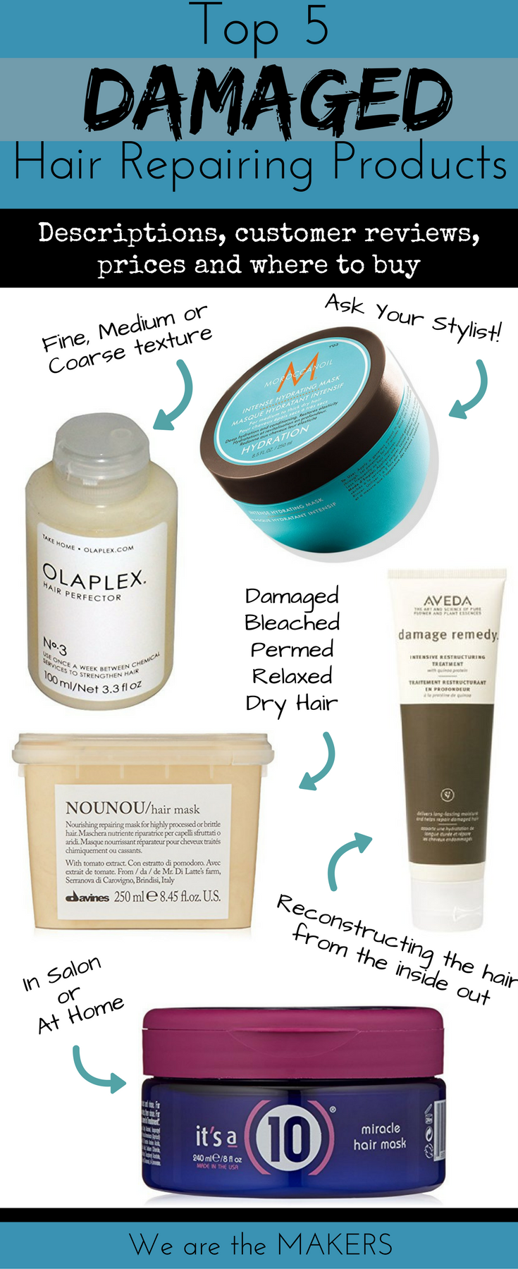 Top 5 Damaged Hair Repair Products We Are The Makers Hair